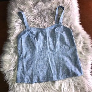 Ann Taylor Loft Denim Tank Top